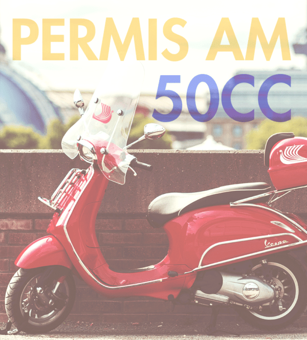 Scooter rouge attestation permis AM marseille
